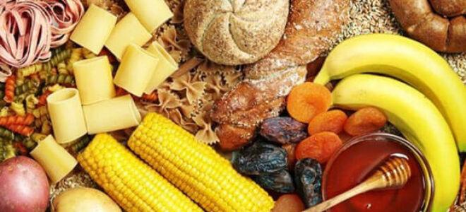 Содержание углеводов в продуктах