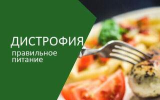 Питание при дистрофии, диета